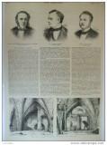 Grafica 29 aprilie  1876  arhitectura Aldgate Londra necrolog Lyttelton Burrows