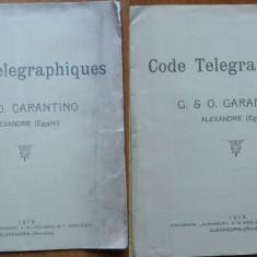 Carantino, Coduri telegrafice, Alexandria ( Egipt ), 1913, Alexandria (Romania) - Carte Editie princeps