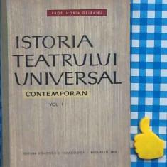 Istoria tearului universal contemporan Vol I Horia Deleanu - Carte Teatru