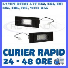 SET LAMPI NUMAR INMATRICULARE BMW E63, E64, E81, E85, E86, E87, Mini R55