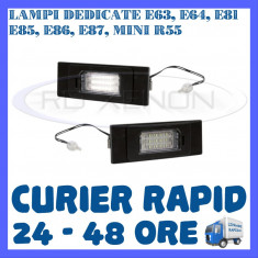 SET LAMPI NUMAR INMATRICULARE BMW E63, E64, E81, E85, E86, E87, Mini R55 ZDM, Universal