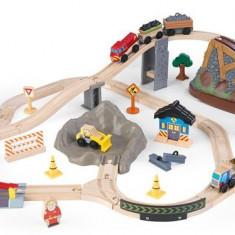Trenulet Kidkraft Din Lemn Bucket Top Construction Cu Set De Accesorii, Seturi complete