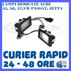 SET LAMPI NUMAR INMATRICULARE AUDI A1, A6, A7, VW GOLF 6 PLUS, JETTA, PASSAT - Led auto ZDM, Universal