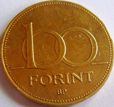 Moneda 100 FORINTI - UNGARIA, anul 1996 *cod 3005 foto