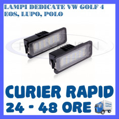 SET LAMPI NUMAR INMATRICULARE 18 LED SMD - VW GOLF 4, EOS, LUPO, POLO ZDM, Universal