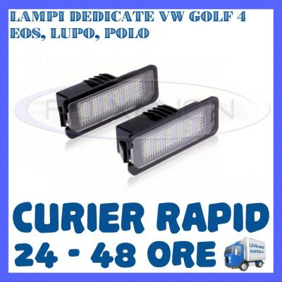 SET LAMPI NUMAR INMATRICULARE 18 LED SMD - VW GOLF 4, EOS, LUPO, POLO foto