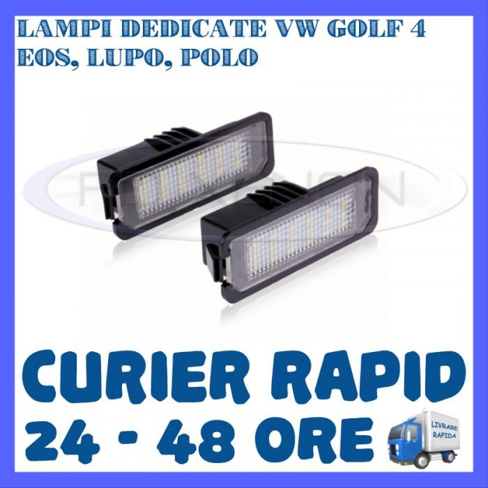 SET LAMPI NUMAR INMATRICULARE 18 LED SMD - VW GOLF 4, EOS, LUPO, POLO
