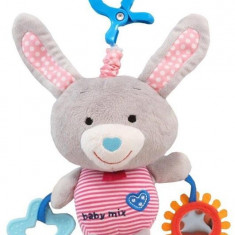 Jucarie Muzicala Din Plus Grey Rabbit - Jucarie zornaitoare Baby Mix