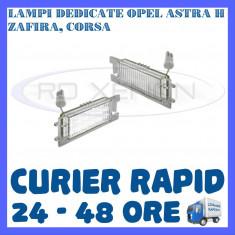SET LAMPI NUMAR INMATRICULARE OPEL ASTRA H, VECTRA C CORSA D, INSGNIA, ZAFIRA B ZDM, Universal