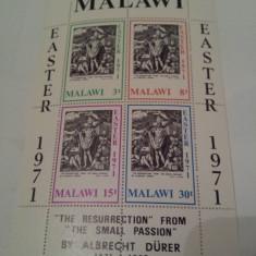 Malawi 1971 pictura/ colita MNH - Timbre straine, Nestampilat