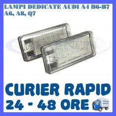 SET LAMPI PLACUTA INMATRICULARE 18 LED SMD - AUDI A3 A4 B6 B7 A6 A8 S4 S6 A8 Q7