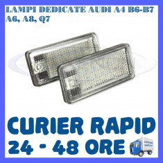 SET LAMPI PLACUTA INMATRICULARE 18 LED SMD - AUDI A3 A4 B6 B7 A6 A8 S4 S6 A8 Q7