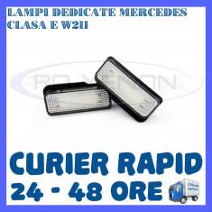 SET LAMPI PLACUTA INMATRICULARE 18 LED SMD - MERCEDES CLASA C W203, S203, E W211 ZDM, Universal