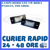SET LAMPI NUMAR INMATRICULARE VOLKSWAGEN VW BORA, GOLF 4, PASSAT B5.5, TOUAREG - Led auto ZDM, Universal