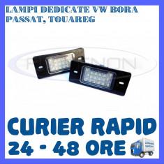 SET LAMPI NUMAR INMATRICULARE VOLKSWAGEN VW BORA, GOLF 4, PASSAT B5.5, TOUAREG ZDM, Universal