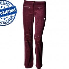 Pantalon dama Adidas Winter - pantaloni originali - Pantaloni dama Adidas, Marime: XS/S, S/M, Culoare: Visiniu, Lungi, Poliester