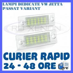 SET LAMPI NUMAR INMATRICULARE VOLKSWAGEN VW JETTA, PASSAT B6 VARIANT, TOURAN - Led auto ZDM, Universal