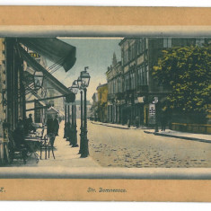 2995 - GALATI, Street Domneasca - old postcard - unused - Carte Postala Moldova 1904-1918, Necirculata, Printata
