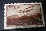 Romania 1931 – VEDERI POSTA AERIANA 5 LEI, timbru stampilat AF1