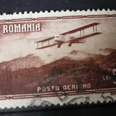 Romania 1931 – VEDERI POSTA AERIANA 5 LEI, timbru stampilat AF1 - Timbre Romania