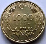 Moneda 1000 Lire - TURCIA, anul 1993 *cod 1430  a.unc, Europa
