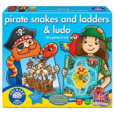 Joc De Societate Piratii Pirate Snakes And Ladders & Ludo - Joc board game orchard toys