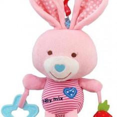 Jucarie Muzicala Din Plus Pink Rabbit - Jucarie zornaitoare Baby Mix