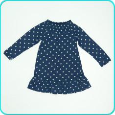 DE FIRMA _ Rochie de vara, bumbac tricot, calitate H&M _ fetite | 4-6 ani | 116, Marime: Alta, Culoare: Bleumarin
