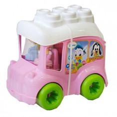 Clemmy - Autobuz Minnie Cu Cuburi - Jucarie zornaitoare Clementoni