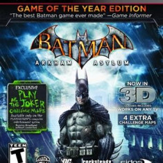 Batman Arkham Asylum Game Of The Year Edition Ps3 - Jocuri PS3 Square Enix, Actiune, 16+
