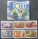 ROMANIA 1987 - DESENE ANIMATE DUPA BASME ROM. 6 VAL SI 1 S/S, NEOBLIT. - RO 0482, Animatii, Romania de la 1950