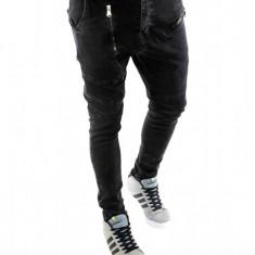 Blugi tip Zara fashion - blugi barbati blugi slimfit blugi conici - cod 6246, Marime: 36, Culoare: Din imagine