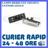 SET LAMPI NUMAR INMATRICULARE TOYOTA AVENSIS, PRIUS, LEXUS LS200, MITSUBISHI