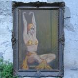 Dansatoare, tablou vechi, pictura veche Art Deco, ulei pe panza - Pictor roman, Peisaje, Altul