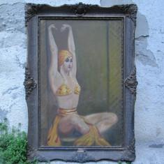 Dansatoare, tablou vechi, pictura veche Art Deco, ulei pe panza, Peisaje, Altul