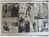 Grafica 1 ianuarie 1876  The Graphic far mare furtuna barca