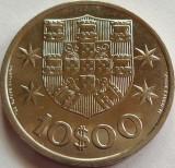 Moneda 10 ESCUDOS - PORTUGALIA, anul 1972 *cod 2795 = A.UNC, Europa
