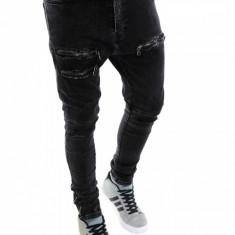 Blugi tip Zara fashion - blugi barbati blugi slimfit blugi conici - cod 6241, Marime: 33, Culoare: Din imagine