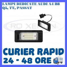 SET LAMPI NUMAR INMATRICULARE AUDI A4 (B8), A5, S5, Q5, TT, PASSAT 5D, R36