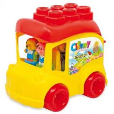 Clemmy - Autobuz Scolar Cu 12 Cuburi - Jucarie zornaitoare Clementoni