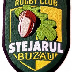 ROMANIA ECUSON TEXTIL RUGBI RUGBY CLUB STEJARUL BUZAU 83 x 63 mm **
