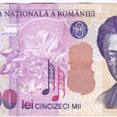 Bancnota 50.000 lei 2000 ( 50000 lei 2000 ) George Enescu Sfinxul Bucegi (4) - Bancnota romaneasca