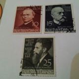 Germania/danzig 1939 personalitati/ serie stampilata