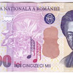 Bancnota 50.000 lei 2000 ( 50000 lei 2000 ) George Enescu Sfinxul Bucegi (1) - Bancnota romaneasca