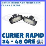 SET LAMPI NUMAR INMATRICULARE MERCEDES CLASA C W203 - Led auto ZDM, Universal