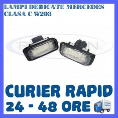 SET LAMPI NUMAR INMATRICULARE MERCEDES CLASA C W203 ZDM, Universal