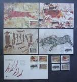R.S.AFRICA 1987 - PICTURI RUPESTRE 4 VALORI,4 ILUSTRATE MAXIME SI 1 FDC - AS 207
