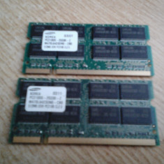 MEMORIE LAPTOP DDR 512 MB PC 2100 SAMSUNG IMPECABILA - Memorie RAM laptop