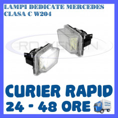 SET LAMPI PLACUTA INMATRICULARE MERCEDES CLASA C W204, E W212, S W221