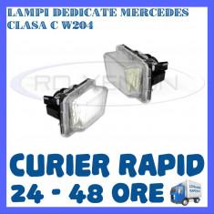 SET LAMPI PLACUTA INMATRICULARE MERCEDES CLASA C W204, E W212, S W221 ZDM, Universal